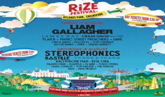 Liam Gallagher and Stereophonics to headline the brand new RiZE Festival
