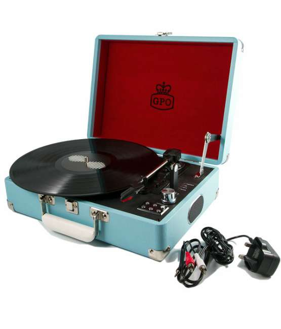 Gpo Attache Record Player Blue1