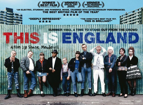 THIS IS ENGLAND is a 2006 British drama film written and directed by SHANE MEADOWS. The story centres on young SKINHEADS in England in 1983